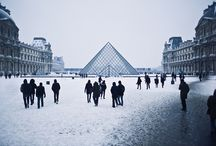 Winter in Paris. / A beautiful time to be in France.