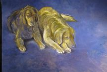 Dog paintings by Luis Vargas Saavedra / Oil portraits of various dogs