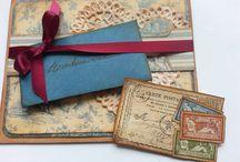 Scrapbooking Cards Christmas and Eastern / Scrapbooking Cards DIY Vintage Paper and Shabby Chic selbstgemachte Karten für festliche Anlässe
