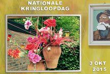 Kringloop in je Tuin / Kringloopspullen doen het ook heel goed in je tuin. Zet er mooie bloemen in en ze vrolijken je tuin zo op.