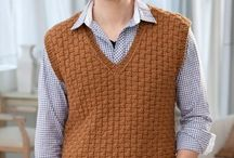 vest crochet  for men