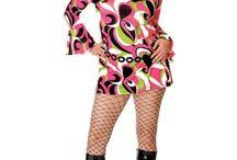 60's 70's hair makeup dress