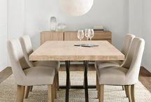 Tables / Dining & coffee tables, wood top & metal legs