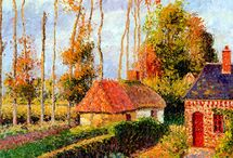 """artist > Camille Pissarro(1830-1903) / カミーユ・ピサロ 印象派 I was born in St. Thomas, a Danish island in the Caribbean Sea in 1830. My father ran from there in the Bordeaux region and managed a grocery store. Pizarro is 11 years old and attends French school, but once she is 17, she returns to her hometown. For a while I was helping at a grocery store, but when I was 25 I persuaded my parents and went to France again to become a painter. Pizarro who went to France is influenced by seeing Corot and Courbet paintings exhibited at the Paris Expo. At the time I was studying painting at the corridor atelier. In 1859, at the age of 29, for the first time a landscape painting """"Montmorency scenery"""" was presented to the salon, and it was selected. Around this time I met Monet and Cézanne who will be the later Impressionists, and we are painting outdoors together. Pizarro was older than 10 years older than other Impressionists and was a warm person, so it was also a trusted entrepreneur to the painters. In 1870 I escaped from a period of war and live in London. Pizarro is also a member of the Impressionist and the only one who is exhibiting from the 1st Impressionistic Exhibition to the 8th Impressionistic Exhibition. In 1885 he met Sura and SIGNIC, and in 1890, he also incorporated stippling in paintings. In his later years, he painted not only landscapes but also portraits. In his later years, he has successfully held a solo exhibition as a painter. He was also an understanding person of New Impressionist painters who have not been admitted to the public yet, he was no longer in Paris in 1903.  1830年にカリブ海に浮かぶデンマーク領の島、セント=トマスでうまれました。父親はボルドー地方からそこに来て雑貨店を経営していました。ピサロは11歳でフランスの学校に通いますが17歳で一度故郷に戻ります。しばらくは雑貨店の手伝いをしていましたが、25歳のときに両親を説得して、画家になるため再びフランスにいきました。 フランスに行ったピサロは、パリ万博で展示されていたコローやクールベの絵画を見て、影響を受けます。そして一時はコローのアトリエで絵画の勉強をしていました。1859年29歳ではじめてサロンに風景画『モンモランシーの風景』を出品し、入選しました。この頃に後の印象派となるモネやセザンヌに出会い、一緒に屋外で絵画の制作をしています。 ピサロは他の印象派のメンバーよりも10歳以上年上であり、温厚な人物だったため、画家たちにとても信頼された存在でもありました。1870年には一時期"""