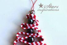 Sapin tissus+perles