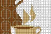 чай кофе-вышивка / вышивка