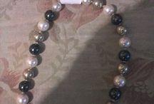 Naszyjnik perłowy pozłacany