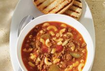 soupe ( boeuf haché )
