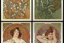 Art nouveau paintings