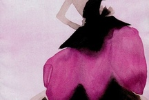 Mats Guvstafson fashion illustration / To have such command with watercolors...
