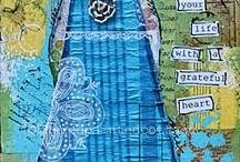 Canvas, collages, art journal e mix media / DIY