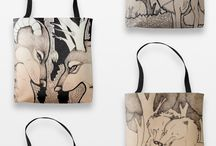 ¤Tote Bags / Some tote bags from my Zazzle store, www.zazzle.com/millakahlosdesigns