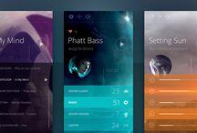 Inspiration mobile  / Interfaces mobile, application, et maquettes dans le domaine du mobile et des tablettes