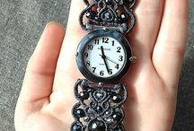 часы макраме