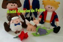 ateliê alecrim de feltro / Boneca de pano e feltro