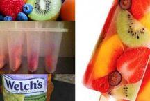 Frozen Popsicles/fruit pops etc.