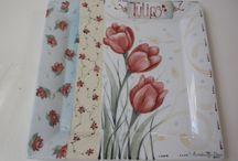 Pintura de Flores en porcelana