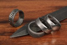 Damascus Steel / The Damascus steel rings we offer you mimic ancient metalsmithing techniques believed to have originated in the Middle East, and used for centuries by Japanese sword-makers. / by Krikawa Jewelry Designs