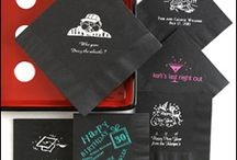 Personalized Wedding Napkins / You're going to need them... napkins at your reception, so make them special and personalized.  The selection of color and imprinting will make your napkins fit your mood and theme.