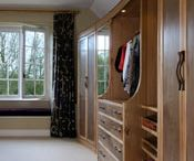 Dressing room by Nick Thwaites Furniture.