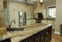 The D's Kitchen: A two tone kitchen... a mixture of perfection! / This kitchen has the perfect mix of rustic and elegance. Your Style, Our Craftsmanship, Shared Pride! La Cuisine Kitchen Cabinets.
