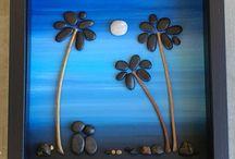 creativo con piedras