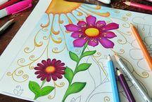 Colour Me: grow'd up colouring pages