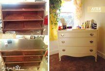 Dresser Makeover: Old Dresser, New Era / Dresser Makeover. Furniture Rehab from MyEye4DIY.com