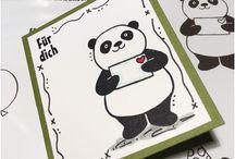 Stampin up Pandas