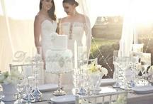Stunning White + Diamond Wedding Styling / Magical white wedding styling for outdoor dining. Styled and created by Decorations by Jelena. www.decorationsbyjelena.com.au