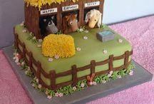 Çiftlik temalı pasta