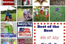 4th of July / recipes -- crafts -- diy -- fun for kids -- all for the 4th of July -- July 4th