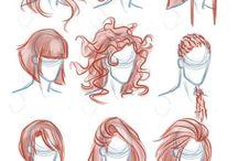 аниме волосы