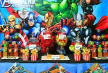 Avengers Party / Avengers superhero themed dessert table and birthday party