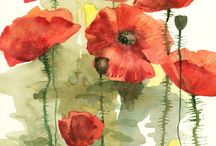 "❀...Poppies  / ""They shall grow not old, as we that are left grow old;  Age shall not weary them, nor the years condemn.  At the going down of the sun and in the morning  We will remember them"""