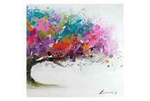 arbol colores oleo