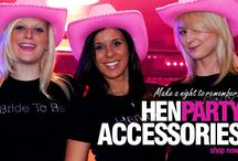 Hen Party Accessories! / Everything you need for a hen party at #henpartysuperstore. Choose from 1000's of hen party accessories, bride to be sashes, personalized t-shirts, gift bags, tiara's and much more!