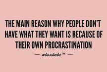 to beat procrastination