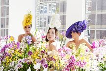 Orchid Hats by Philip Treacy / Philip Treacy, one of the world's most renowned hat designers, revealed an exclusive new hat collection inspired by the Orchid. Working with 'Art of Life', a group of Dutch Orchid Growers, the collection demonstrates how elegant, fashionable and versatile the orchid is through the three strikingly beautiful hats which Treacy has designed.