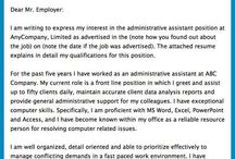 Cover letter sample