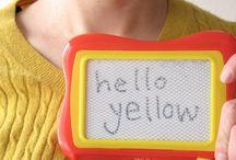 Hello Yellow / Cyan: 0 Yellow: 100 Magenta: 0