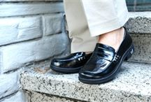 Alegria Taylor / Loafer style, Taylor, has a crisp clean look perfect for business casual. The leather upper and leather covered insole allows your feet to breathe naturally for all day comfort. Loaded with cork, memory foam, and latex, the removable footbed creates a perfect fit by forming to the natural contours of your foot. With superior arch support, plenty of room in the toe box and a lightweight outsole, this shoe is made for walking. Make your feet happy with the Alegria Taylor. / by Alegria Shoe Shop