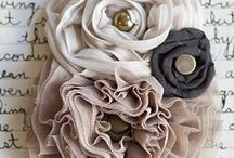 Fabric Flowers / by Sheri Rollins