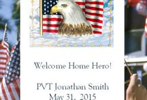 Patriotic 4th of July & Memorial Day Americana Party Ideas / Patriotic Americana ideas for celebrating the 4th of July, Memorial Day and vets and military who have proudly served.