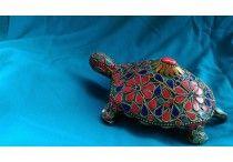 Metal Handicrafts / Stone Studded Designer Turtle exclusively @www.indianaura.in