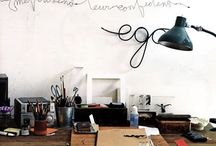 workroom. / workrooms i like. / by Laura Belle Wright