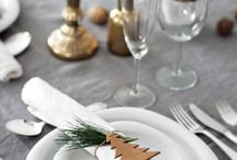 Christmas Table Decorations / Creating beautiful, coordinated table displays is likely the most overlooked, yet important part of the Christmas decorating fun. Check out some of these unique set-ups!