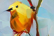 Птица маслом