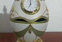 Egg art   ( clocks  )