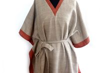 Wool Handwoven Kaftans / Handwoven pure wool kaftan is lined inside to make it a versatile option over a cashmere turtle neck in autumn.  Style it with belt or wear it without belt as a poncho.  One size fits all